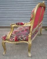 French Gilt Three Seater Salon Settee for Restoration